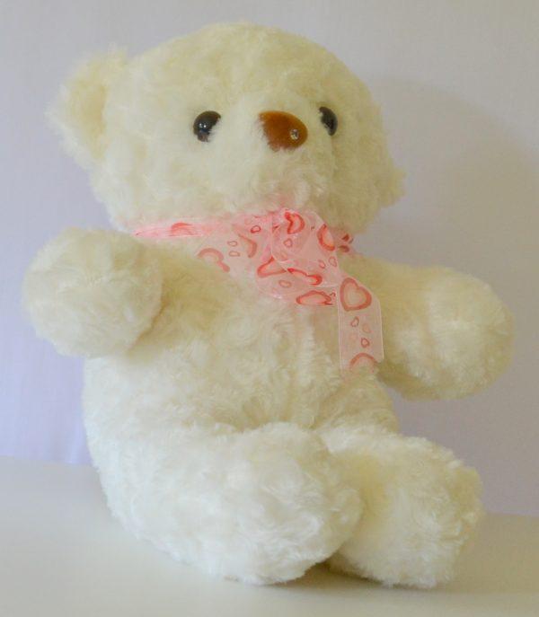 LED knuffel beer groot wit