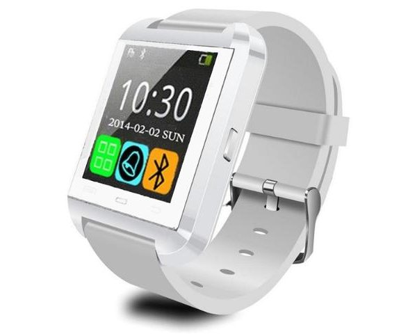 smartwatch Wit met siliconen band-0