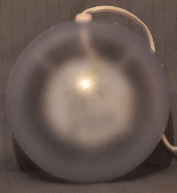 LED bal met ster patroon, warm wit 15cm.-474