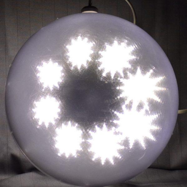 LED bal met ster patroon, warm wit 20cm.-0
