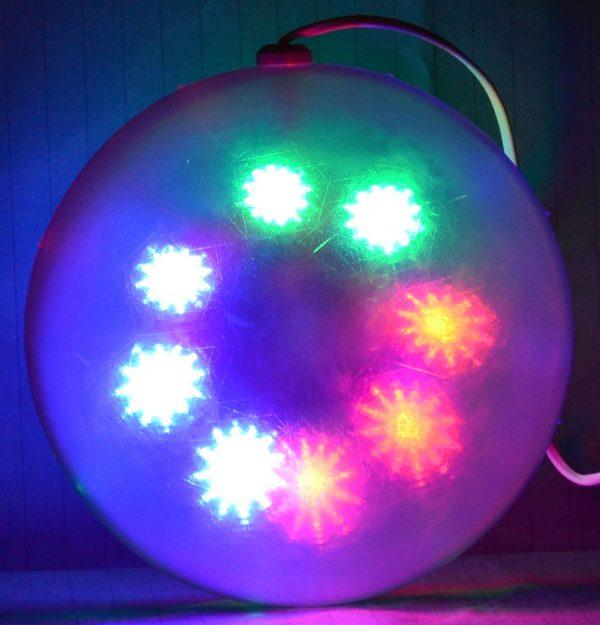 LED bal met ster patroon, RGB 15cm.-0
