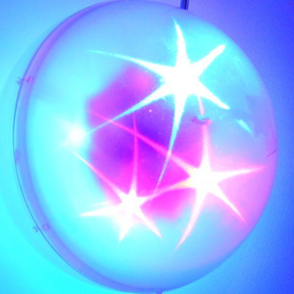 LED bal met ster patroon, RGB 10cm.-0