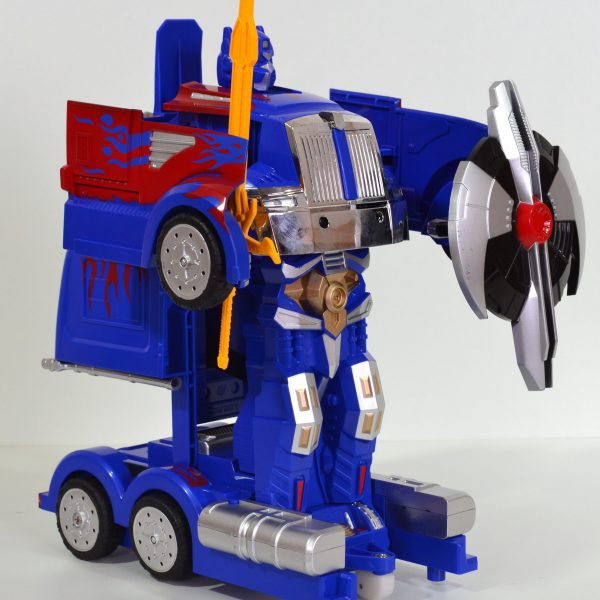 Transformation vrachtwagen blauw/rood-0