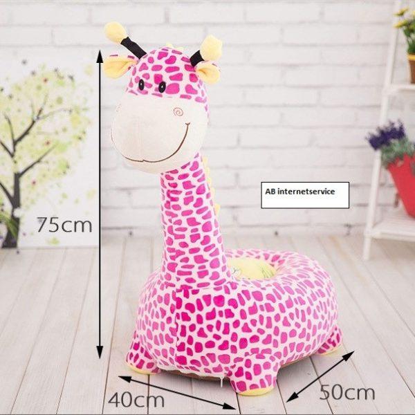 Poef / Zitzak Giraffe roze