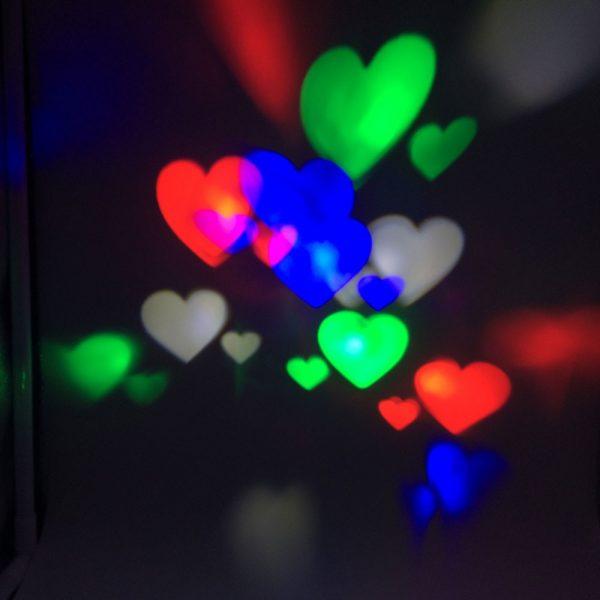 LED projector kerst & Hartjes 3w-908