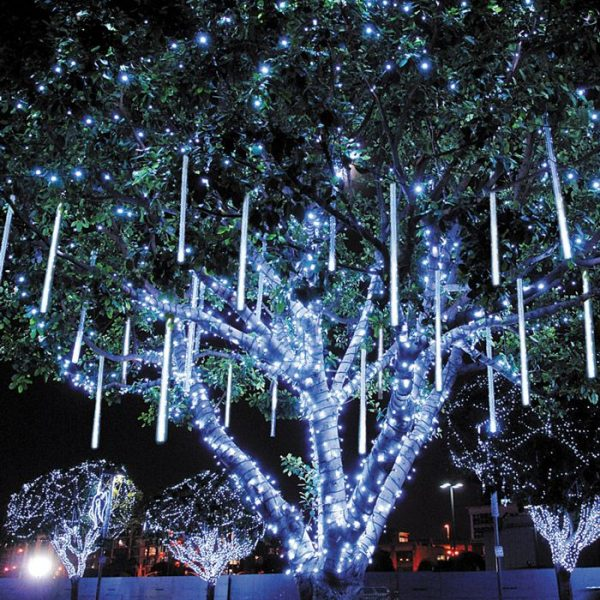 LED meteoor regen/ Snowfall (ribbel) 50cm, koel wit.-0
