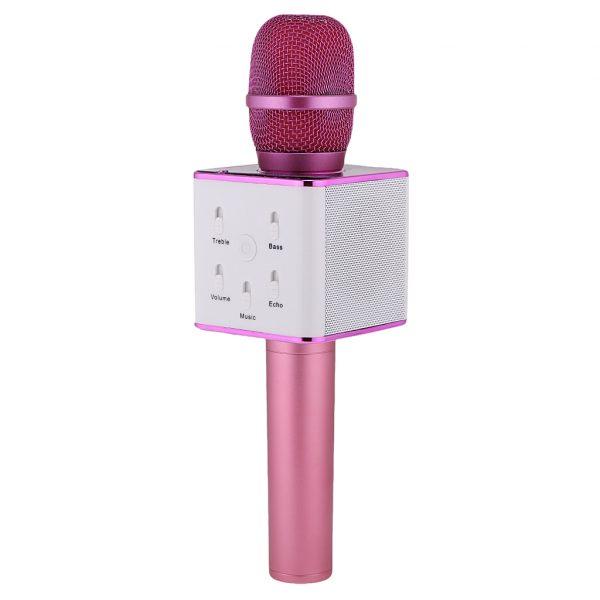 Karaoke/Draadloze microfoon met speaker Bluetooth Roze-0