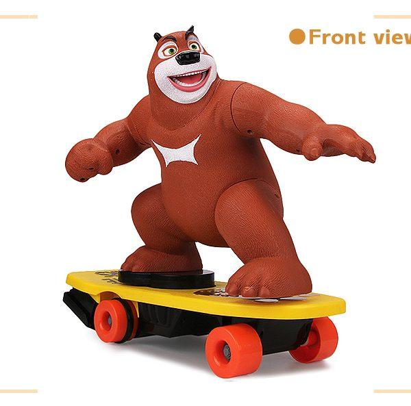 Stunt beer op skateboard