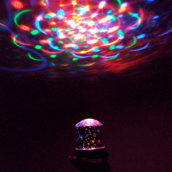 Sterren/disco hemel roterend RGB-1106
