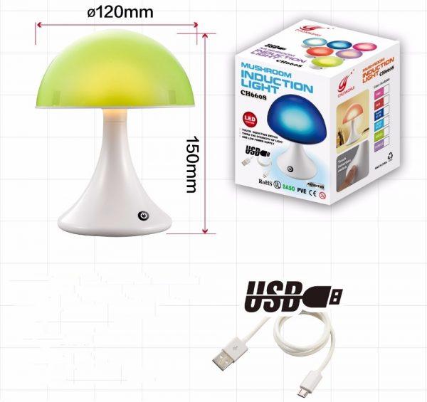 Mushroom sfeerlamp 16 kleuren-1115