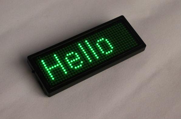 LED naambadge Magnetisch groen-0