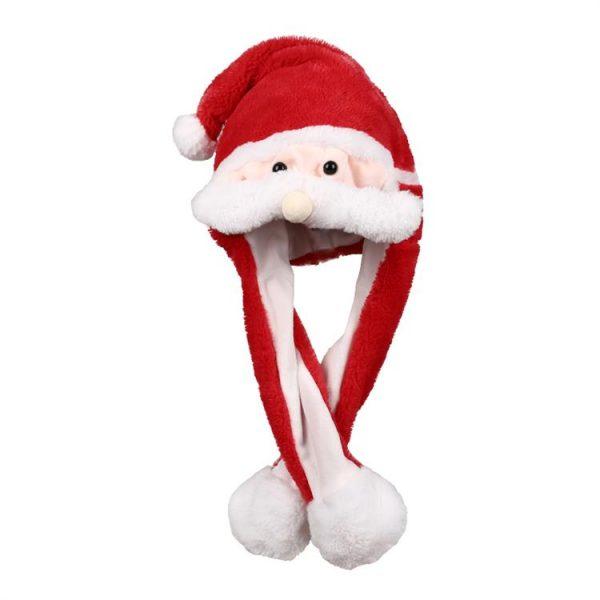Kawaii Pluche muts met bewegende snor - kerstman-0