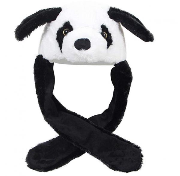 Kawaii Pluche muts met bewegende oren - Panda-0